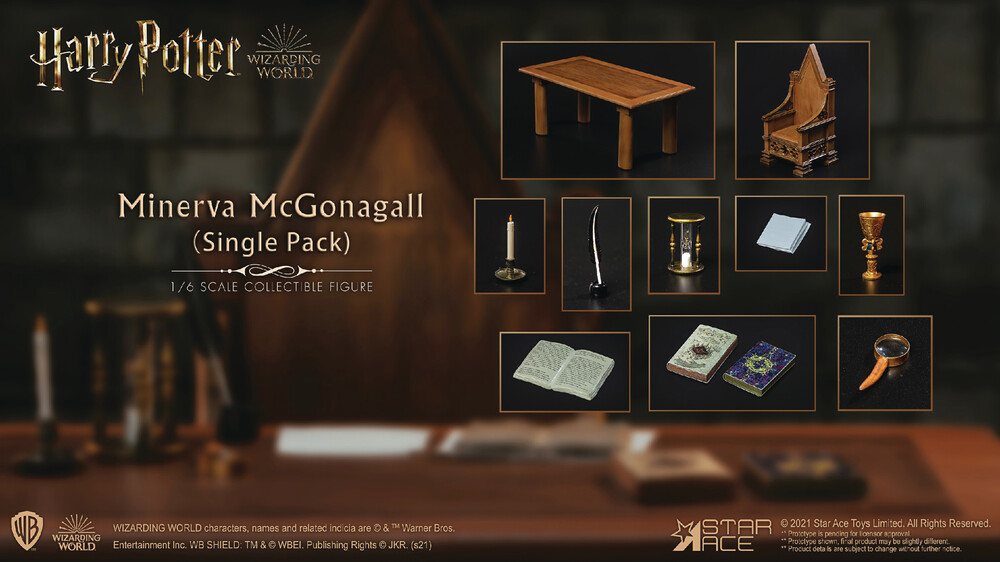 - Hp & The Sorcerers Stone Mcgonagall Desk 1/6 Fig