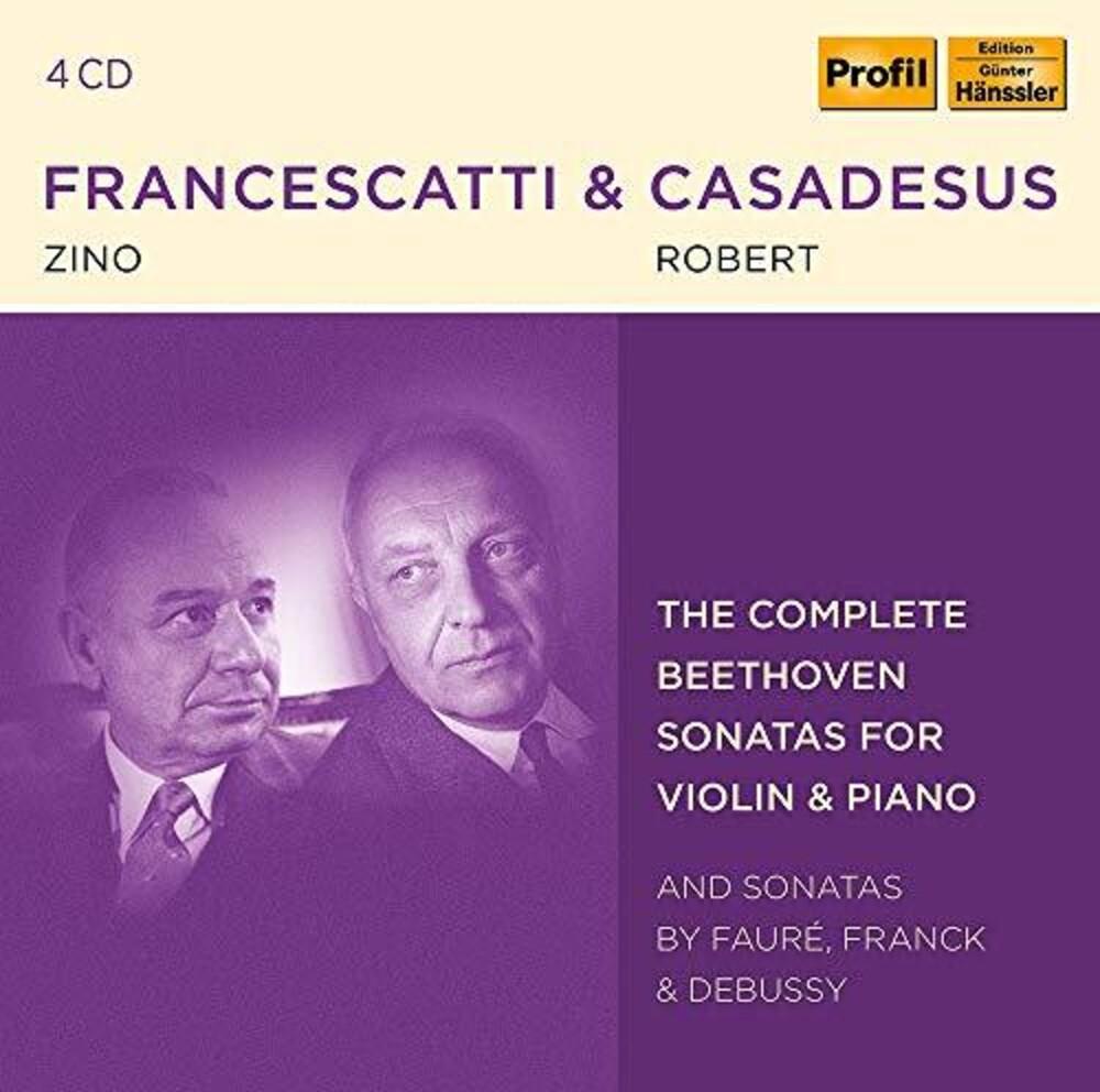 Beethoven / Francescatti / Casadesus - Sonatas For Violin & Piano (Box) (4pk)