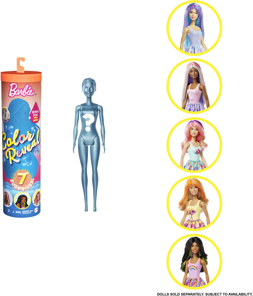 Barbie - Mattel - Barbie Color Reveal Doll: Sunny N' Cool Series, One Surprise Color Reveal with Each Transaction