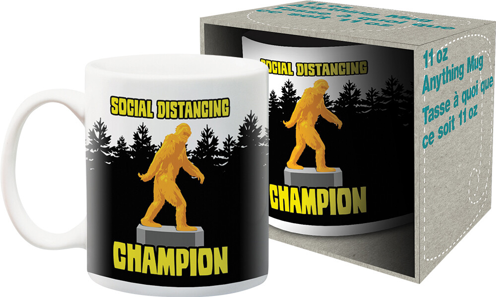 - Social Distancing Champion Bigfoot 11oz Boxed Mug
