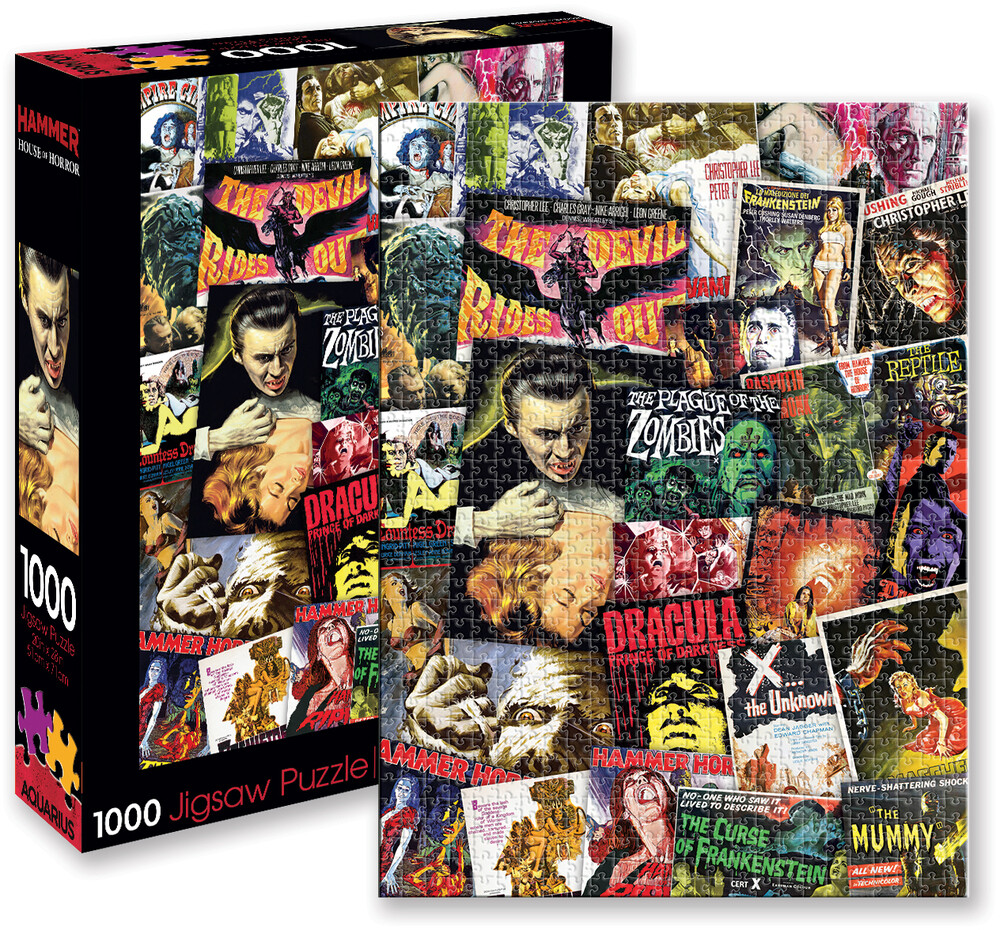 Hammer Classic Horror Movies Collage 1K PC Puzzle - Hammer Classic Horror Movies Collage 1k Pc Puzzle