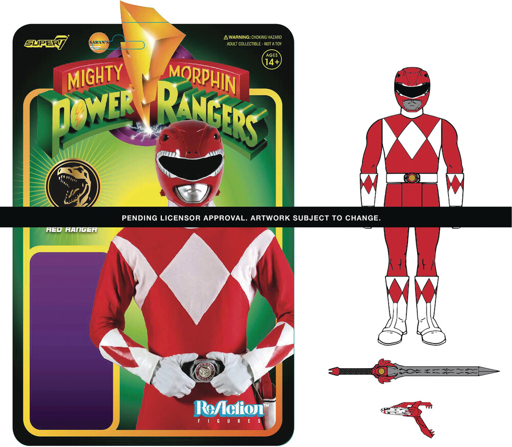 - Super7 - Mighty Morphin' Power Rangers ReAction Figure Wave 1 - Red Ranger