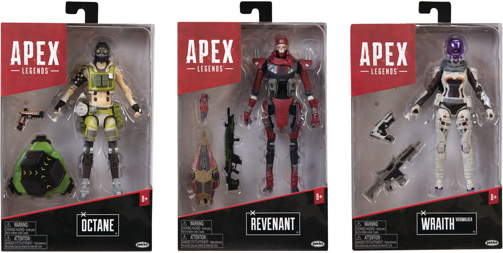 Jakks Pacific - JAKKS Pacific - Apex Legends 6 Action Figure Wv2 Assortment (Net)