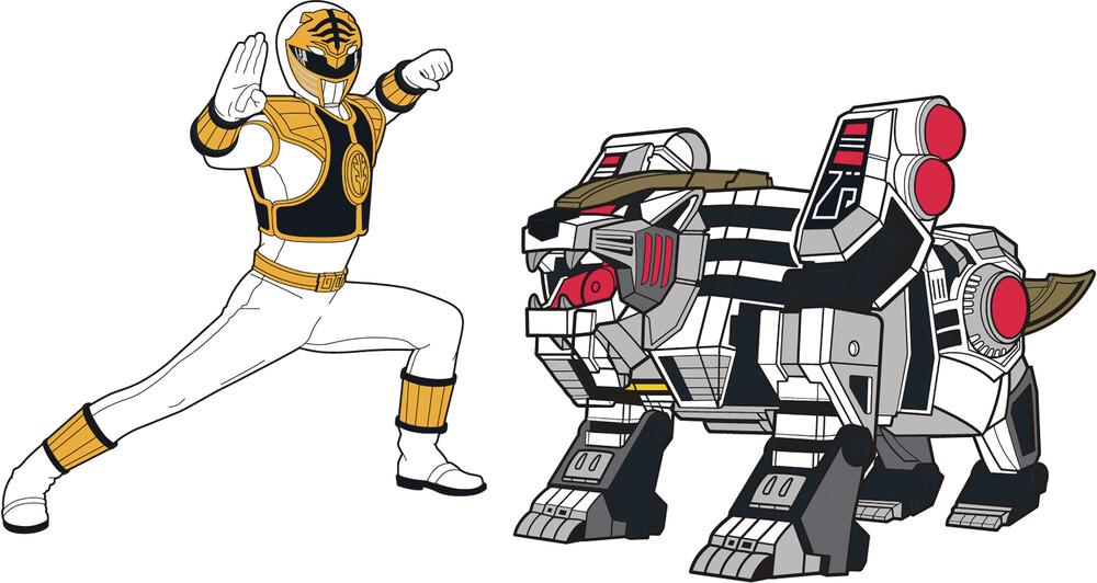 - Power Rangers White Ranger X White Tigerzord Pin S