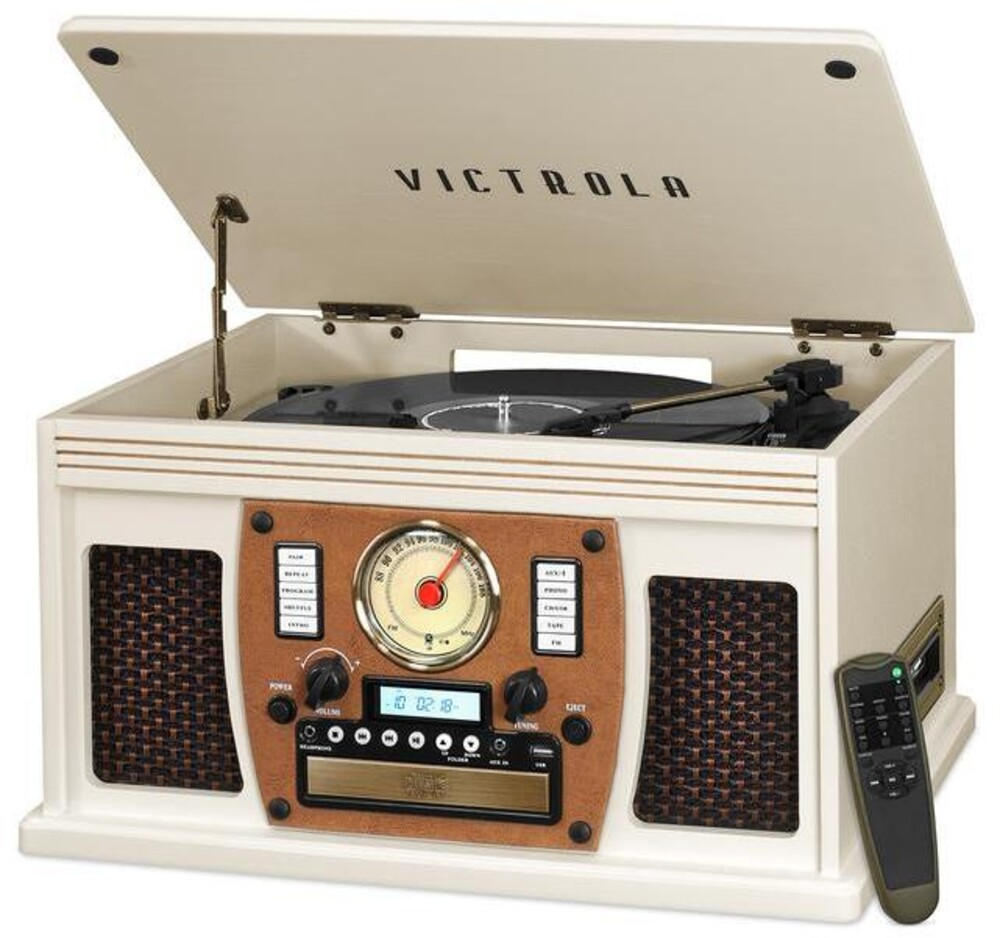 Victrola Vta600Bwht Navigator Bt 8/1 Music Ctr Wht - Victrola Vta600bwht Navigator Bt 8/1 Music Ctr Wht