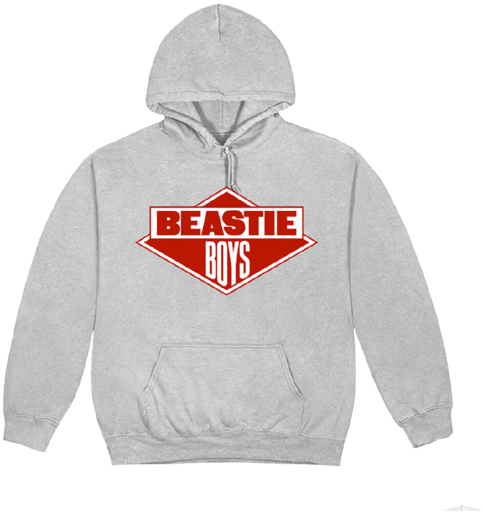 - Beastie Boys Diamond Logo Grey Unisex Hoodie L