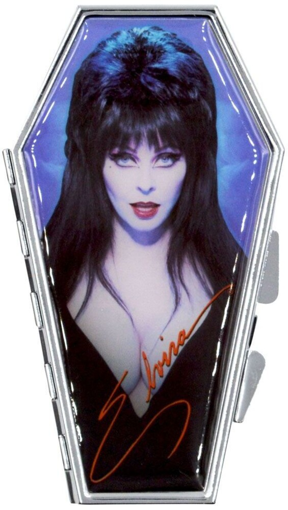 Elvira Portrait Blue Coffin Compact - Elvira Portrait Blue Coffin Compact (Clcb)