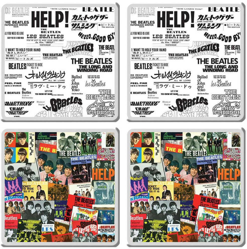 Beatles Singles Collection 4 PC Coaster Set - Beatles Singles Collection 4 Pc Coaster Set (Deco)