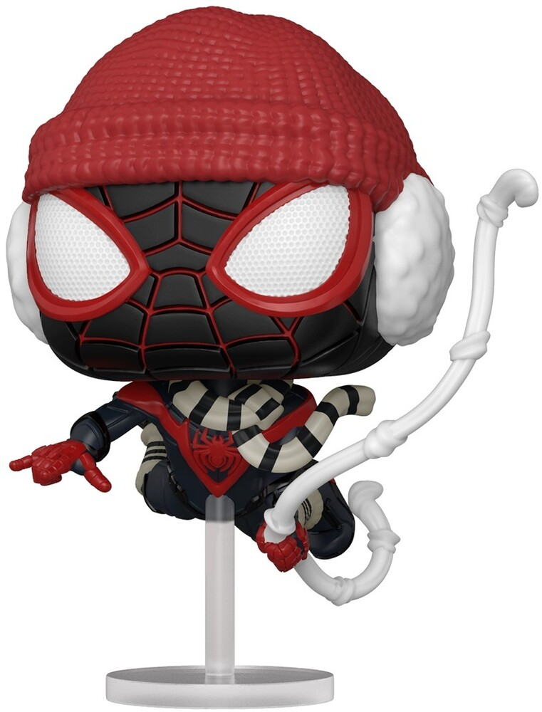 - FUNKO POP! Games: Marvel's Spider-Man Miles Morales Miles (Winter Suit)