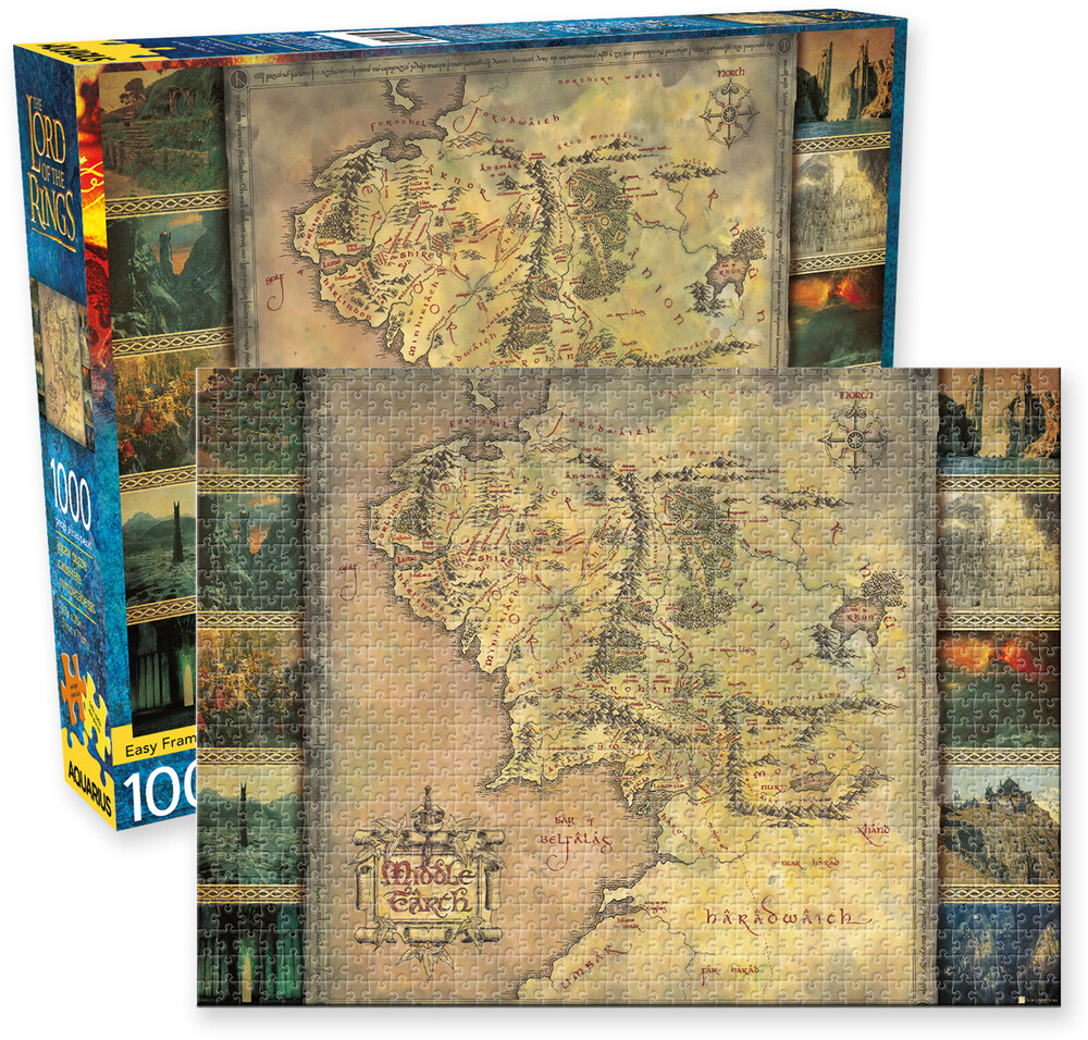 Lord of the Rings Map 1000 PC Jigsaw Puzzle - Lord Of The Rings Map 1000 Pc Jigsaw Puzzle