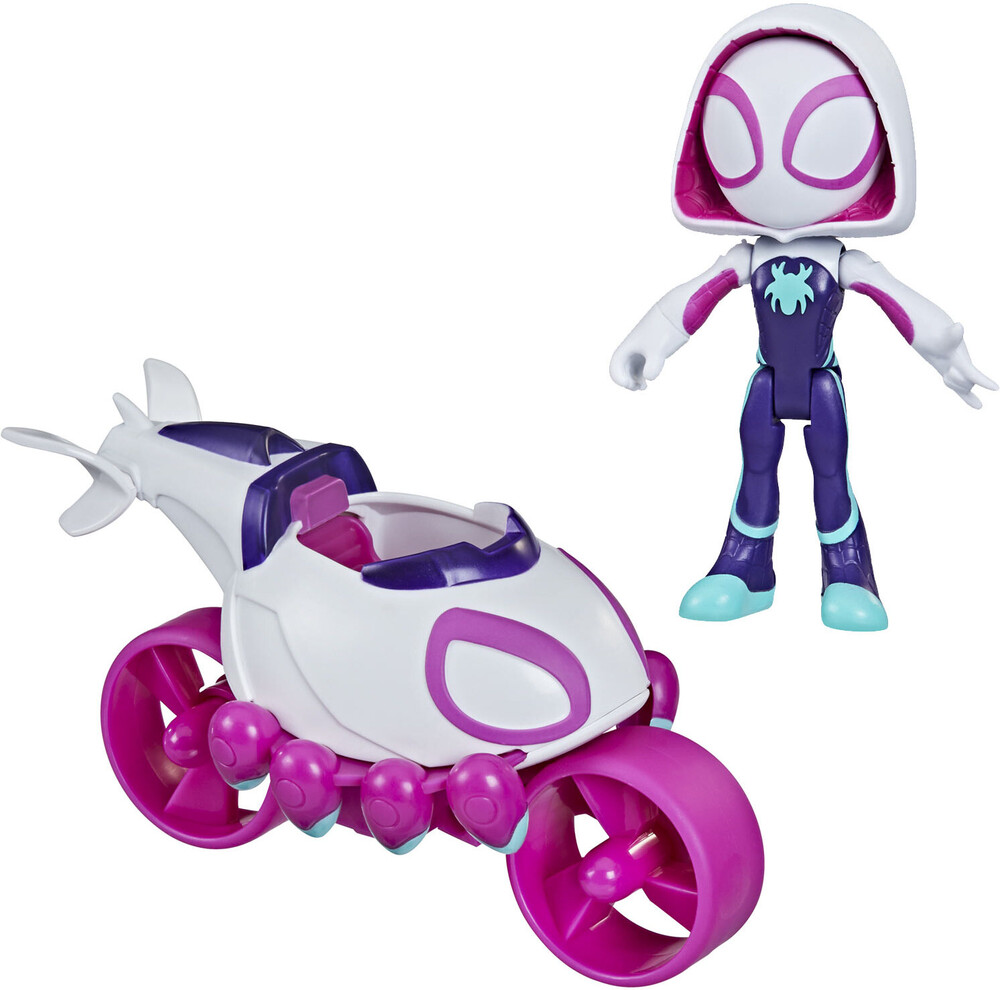 Saf Ghost Spider Copter Cycle - Hasbro Collectibles - Spidey And His Amazing Friends Ghost SpiderCopter Cycle