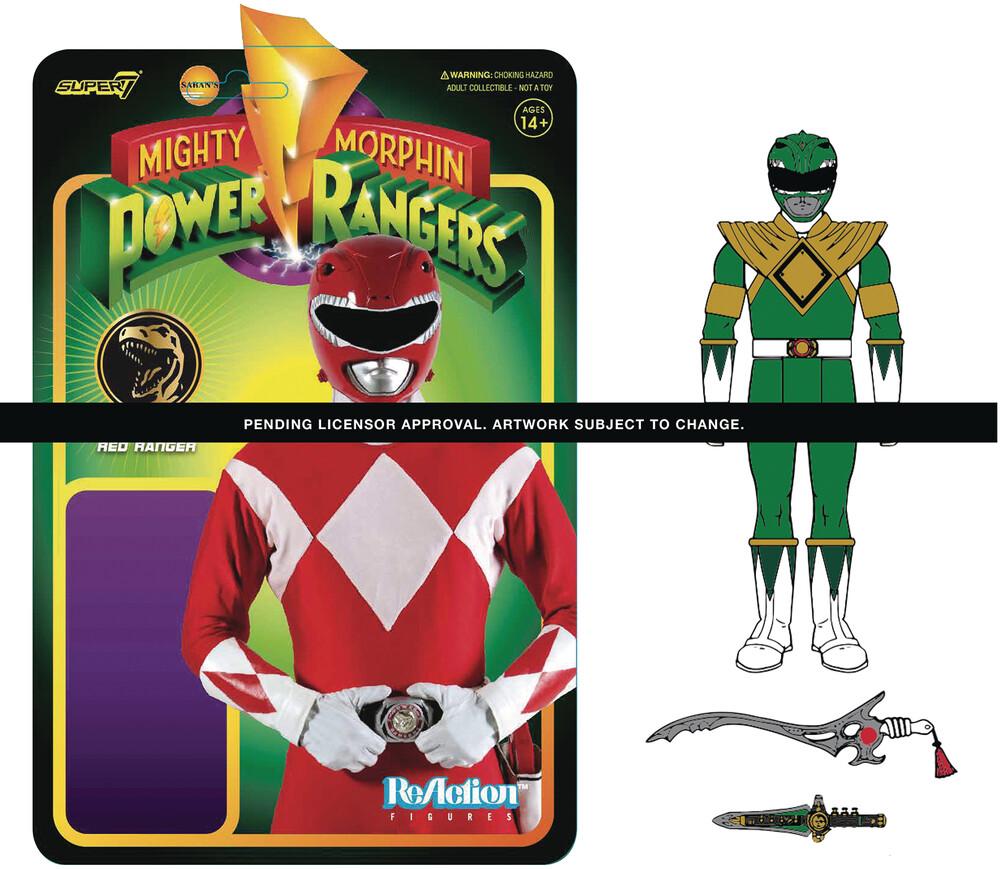 Mighty Morphin' Power Rangers Wave 1 Green Ranger - Super7 - Mighty Morphin' Power Rangers ReAction Figure Wave 1 - Green Ranger