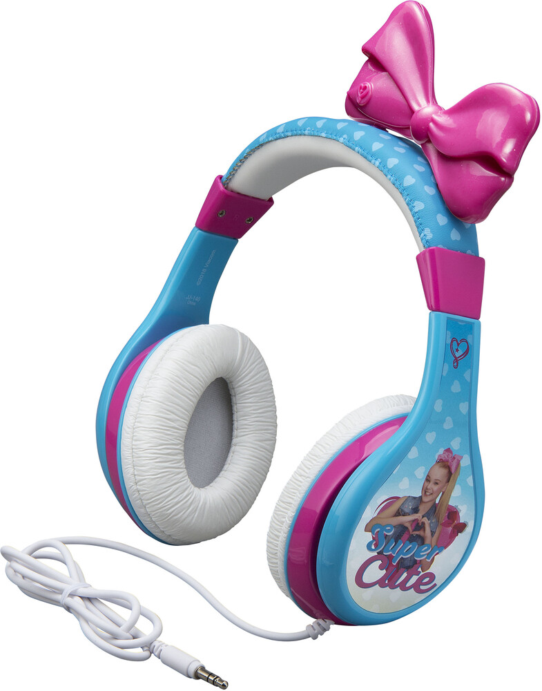 Jojo Siwa Jj-140.Fxv8 Youth Headphone Blue/Pink - JoJo Siwa JJ-140.FXV8 Super Cute Youth Headphones On Ear With BowVolume Limiting (Blue/Pink)