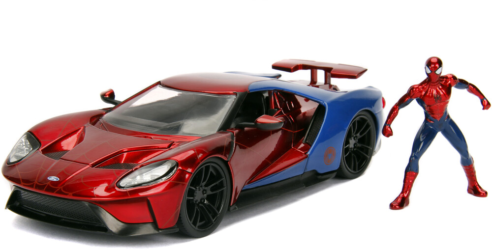 - Jada 1:24 Diecast 2017 Ford GT With Spiderman Figure