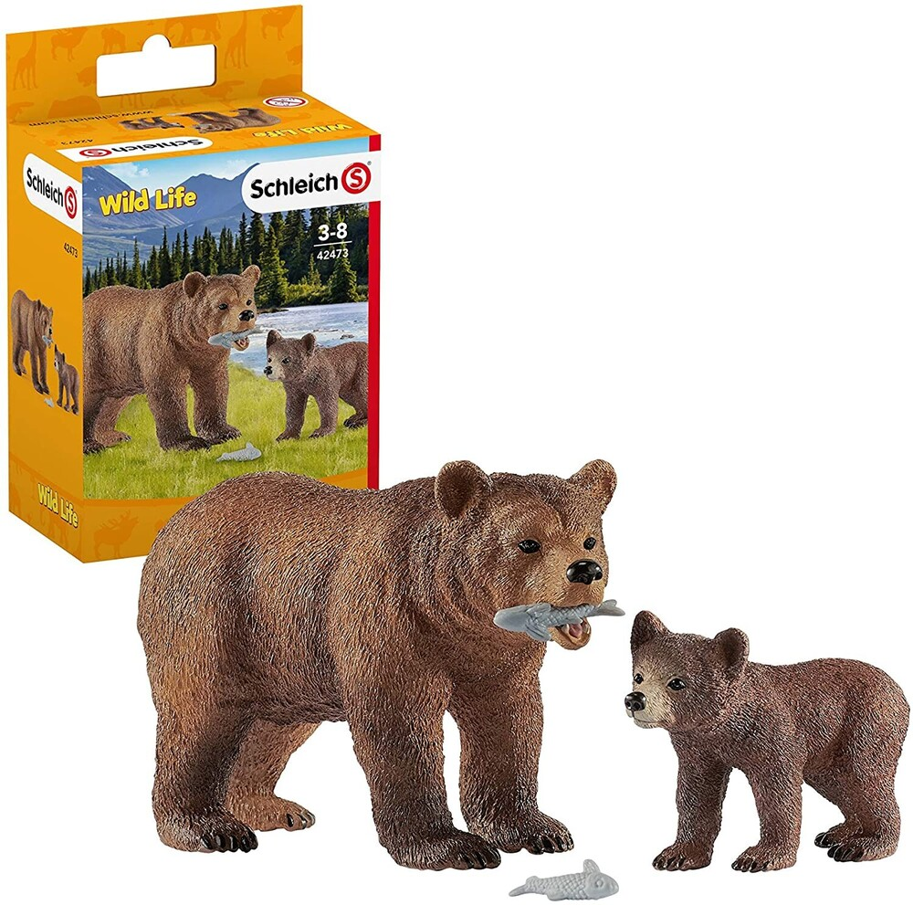 - Schleich Grizzly Bear Mother, with Cub