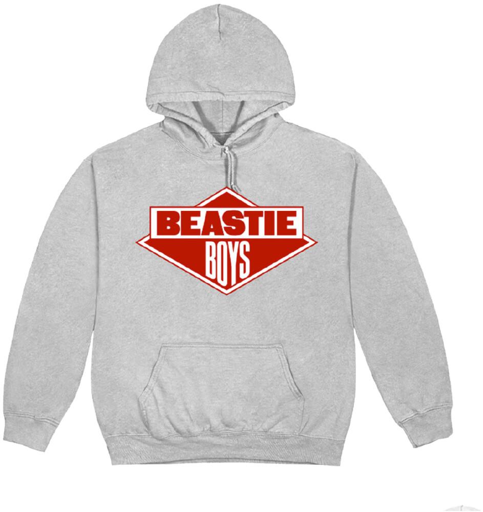 - Beastie Boys Diamond Logo Grey Unisex Hoodie Xl