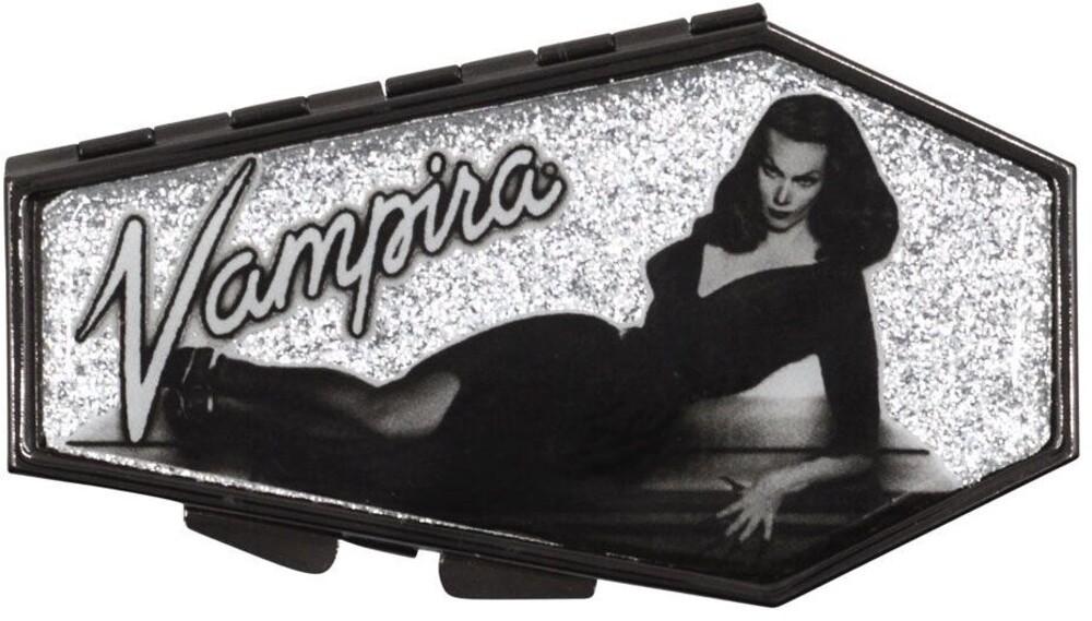 Vampira Silver Glitter Coffin Compact - Vampira Silver Glitter Coffin Compact (Clcb)