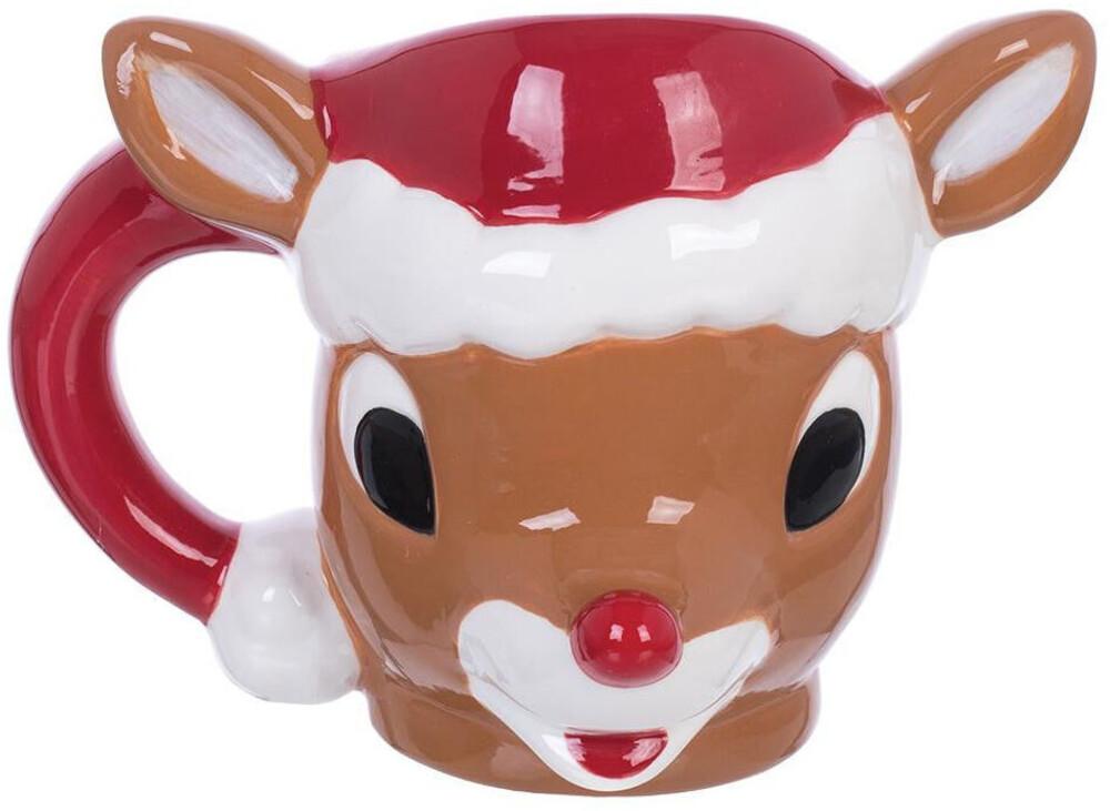 Rudolph the Red-Nosed Reindeer 10 Oz. Sculpted Mug - Rudolph The Red-Nosed Reindeer 10 Oz. Sculpted Mug