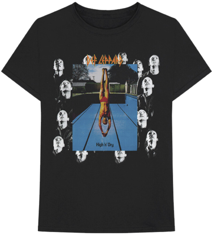 Def Leppard - Def Leppard High N Dry Album Cover Artwork Black Unisex Short SleeveT-shirt XL