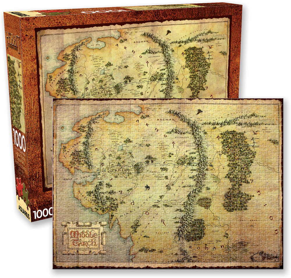 Hobbit Map 1000 PC Jigsaw Puzzle - The Hobbit Map 1000 Pc Jigsaw Puzzle