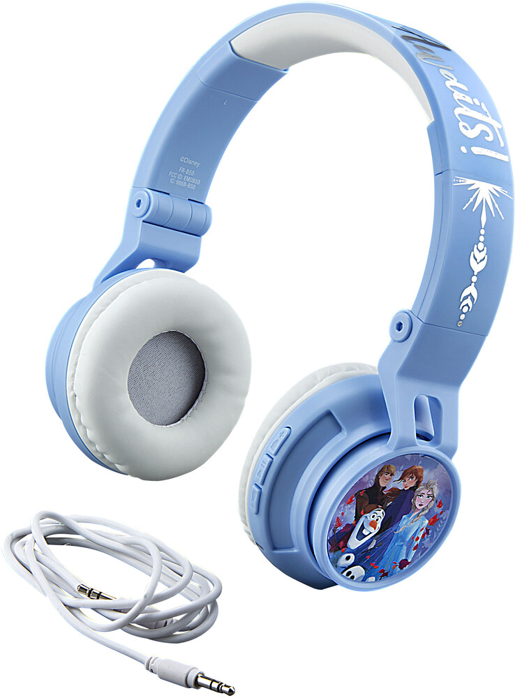 Frozen II Fr-B50.Fxv9M Bt Yth Hdphn Blue/White - Frozen II FR-B50.FXV9M Bluetooth Wireless Youth Headphones On Ear WithVolume Limiting (Blue/White)