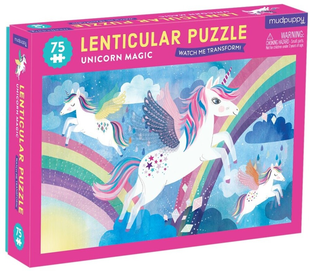 - Unicorn Magic 75 Piece Lenticular Puzzle