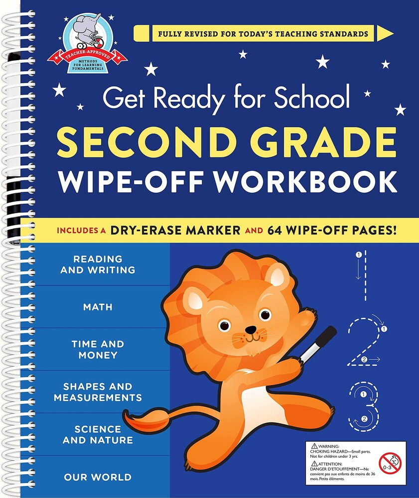 Heather Stella - Get Ready For School Second Grade Wipe Off Work