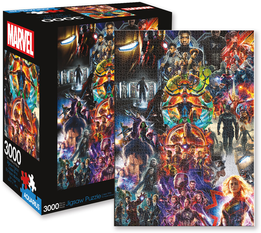 Marvel Avengers Collage 3000 PC Jigsaw Puzzle - Marvel Avengers Collage 3000 Pc Jigsaw Puzzle