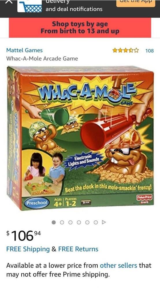 Games - Mattel Games - Whac-A-Mole