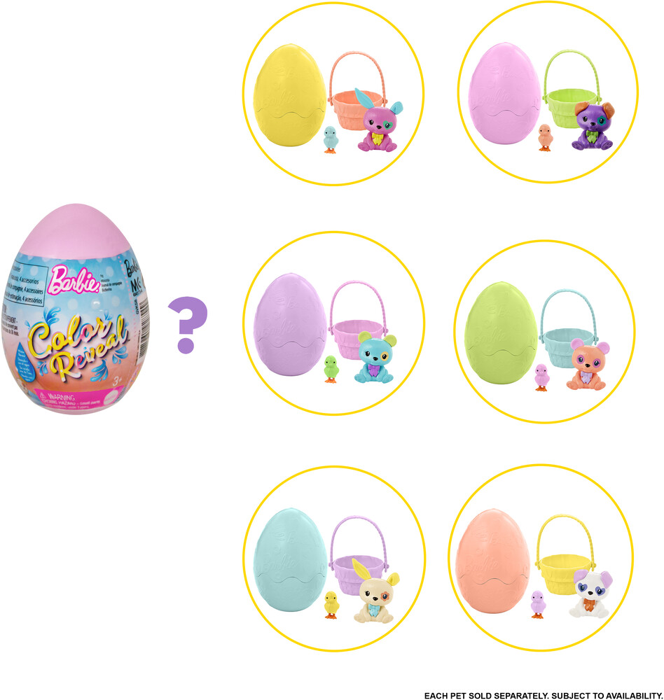 Barbie - Mattel - Barbie Color Reveal Easter Egg, One Surprise Color Reveal with Each Transaction