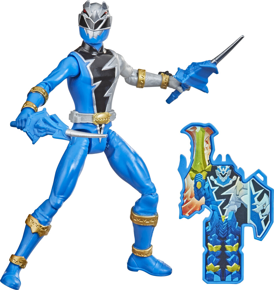 Prg 6in Drm Earth - Hasbro Collectibles - Power Rangers 6 Inch Dino Fury Blue Ranger