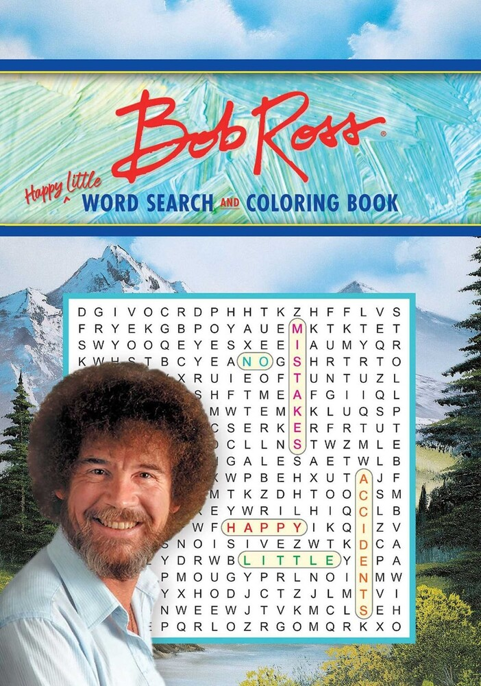 Editors of Thunder Bay Press - Bob Ross Word Search and Coloring Book