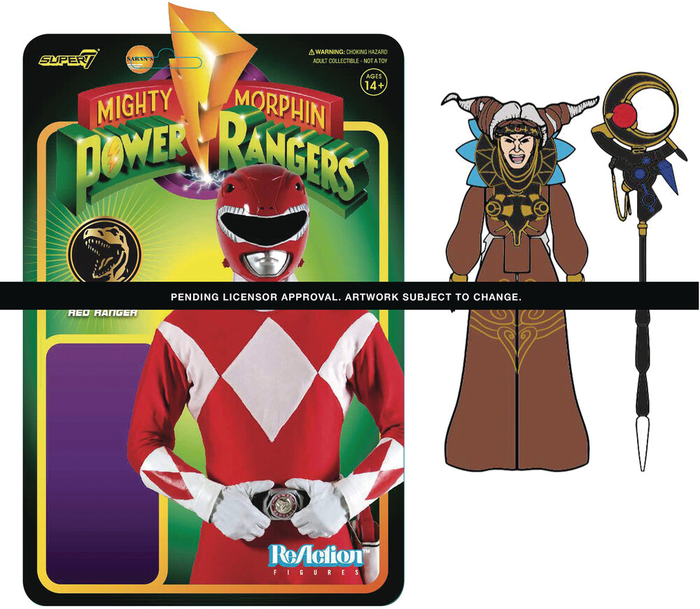 Mighty Morphin' Power Rangers Wave 1 Rita Repulsa - Super7 - Mighty Morphin' Power Rangers ReAction Figure Wave 1 - Rita Repulsa