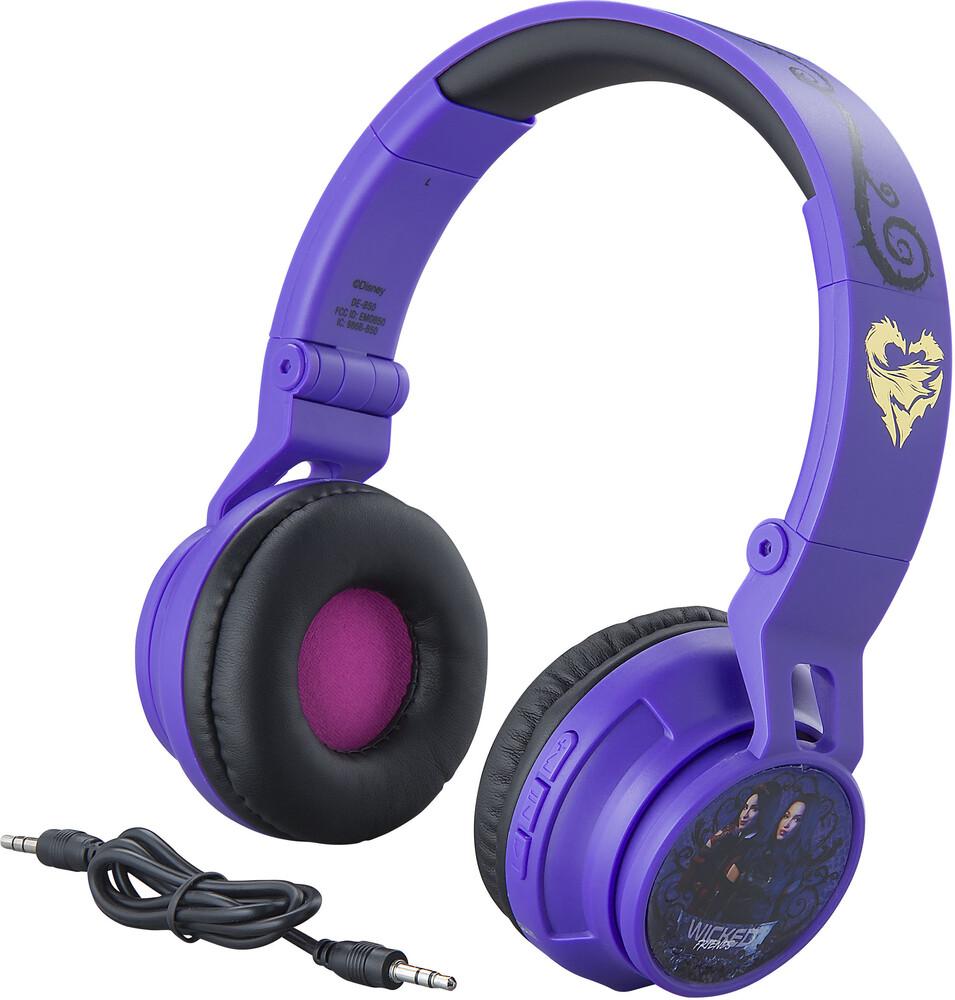 Descendants De-B50.Fxv9M Wicked Bt Hdphn Purple - Descendants DE-B50.FXV9M Wicked Logo Bluetooth Wireless HeadphonesFoldable On Ear With Microphone (Purple)