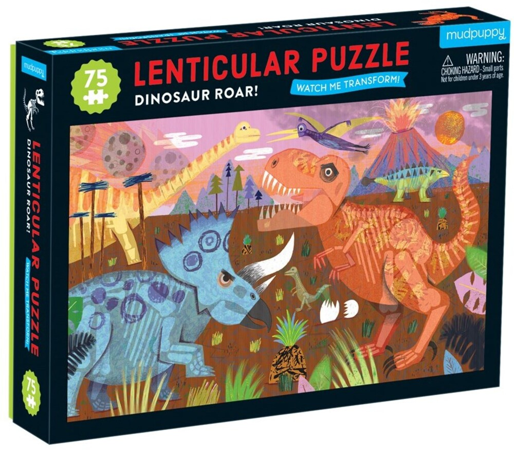 - Dinosaur Roar! 75 Piece Lenticular Puzzle