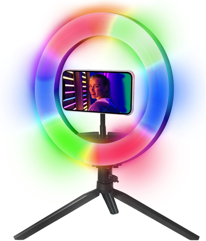 - Bluestone Sk8bk Vlogger Color Ring 8in Ring Light