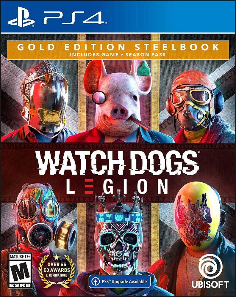 Ps4 Watch Dogs: Legion Steelbook Gold Ed - Watch Dogs Legion for PlayStation 4 Gold Steelbook Edition