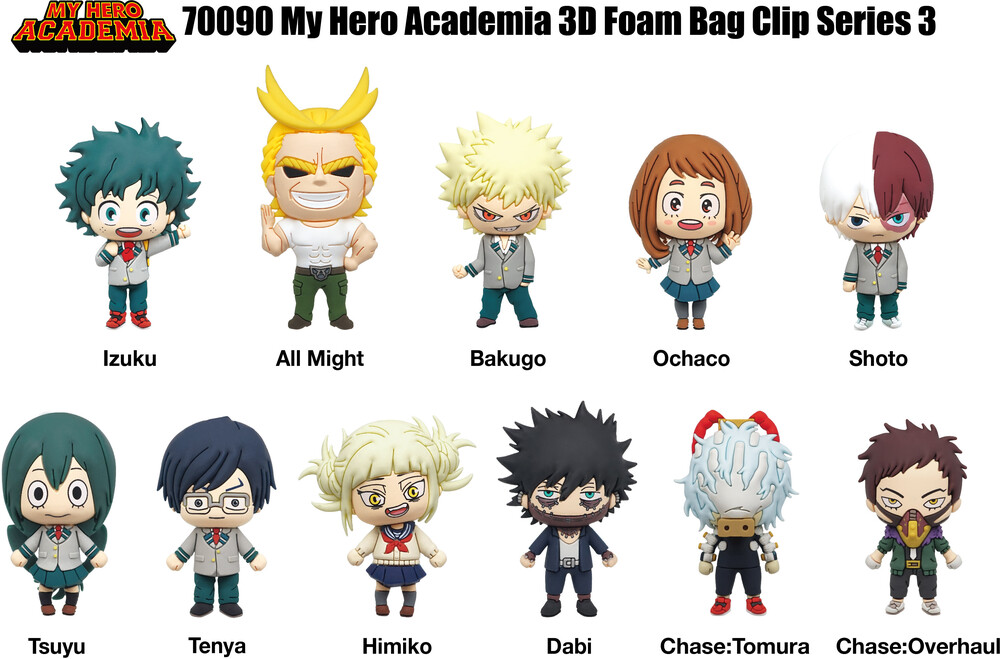 My Hero Academia Series 3 - 3D Foam Bag Clips - My Hero Academia Series 3 - 3D Foam Bag Clips in Blind Bags