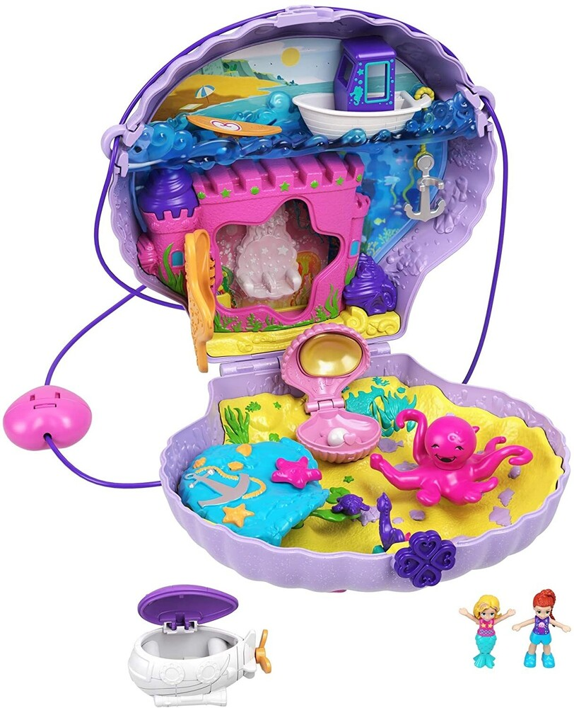 Polly Pocket - Mattel - Polly Pocket Seashell Purse Compact