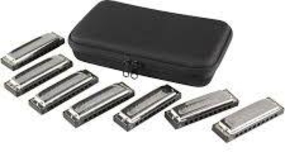 Hohner 15017 Bluesband 7 Pack Harmonicas with Case - Hohner 1501/7 Bluesband 7 Pack Harmonicas with Case