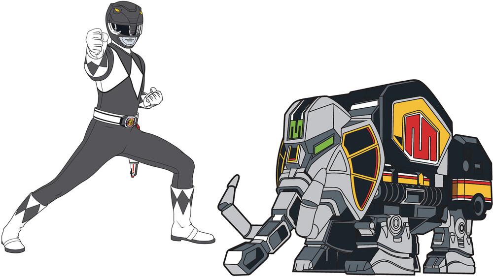 - Power Rangers Black Ranger X Mastodon Zord Retro P