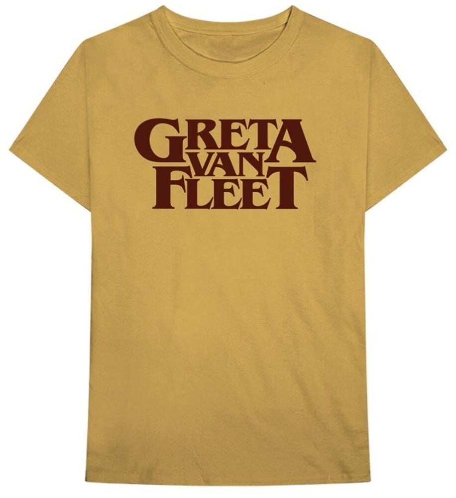 Greta Van Fleet - Greta Van Fleet Logo Old Gold Unisex Short Sleeve T-shirt Med