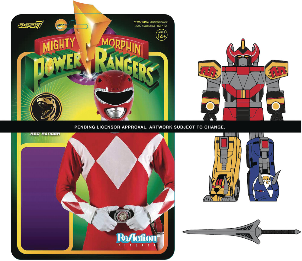 Mighty Morphin' Power Rangers Wave 1 - Megazord - Super7 - Mighty Morphin' Power Rangers ReAction Figure Wave 1 - Megazord