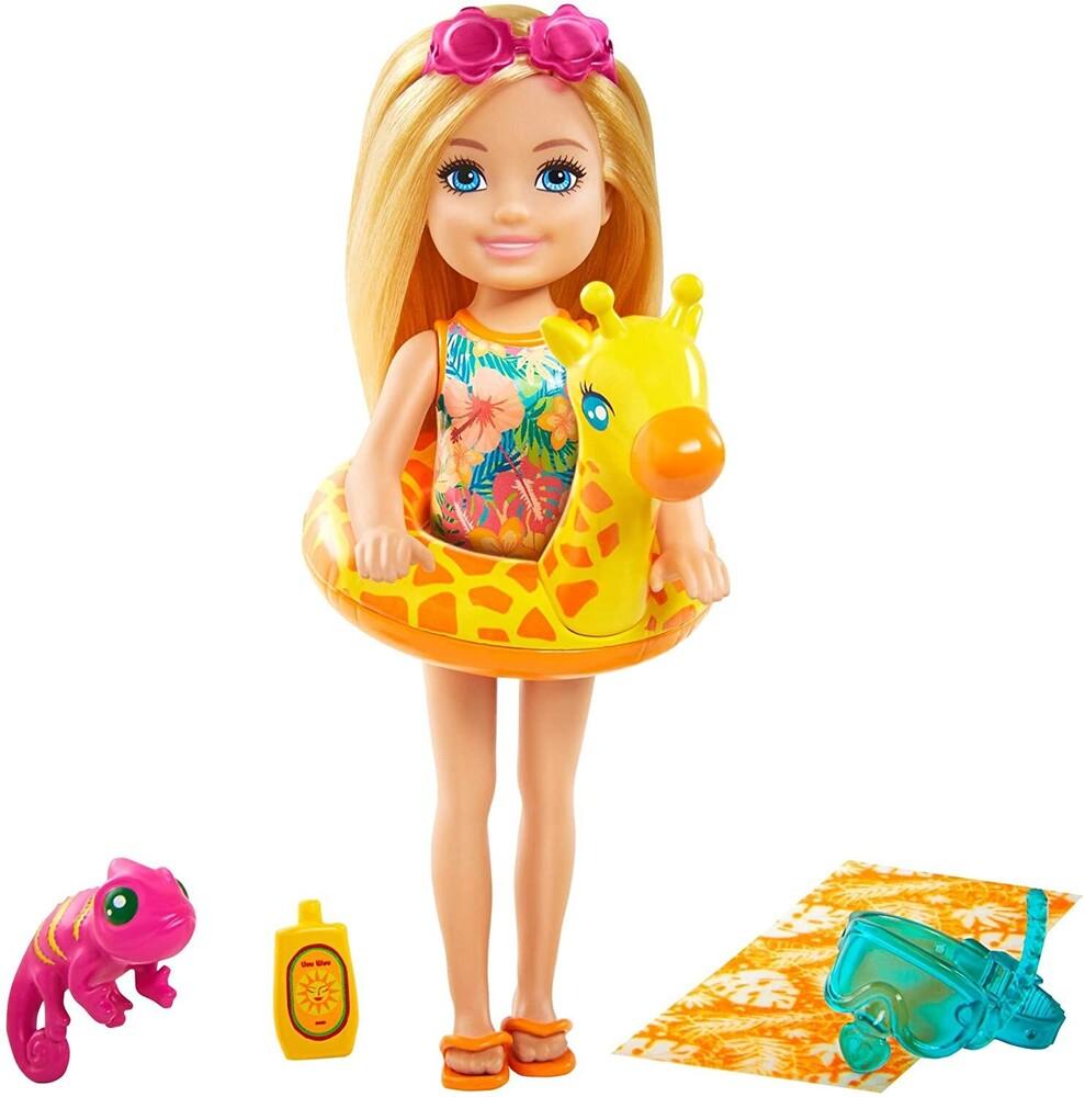 Barbie - Mattel - Barbie Chelsea The Lost Birthday Giraffe Floatie and Pet