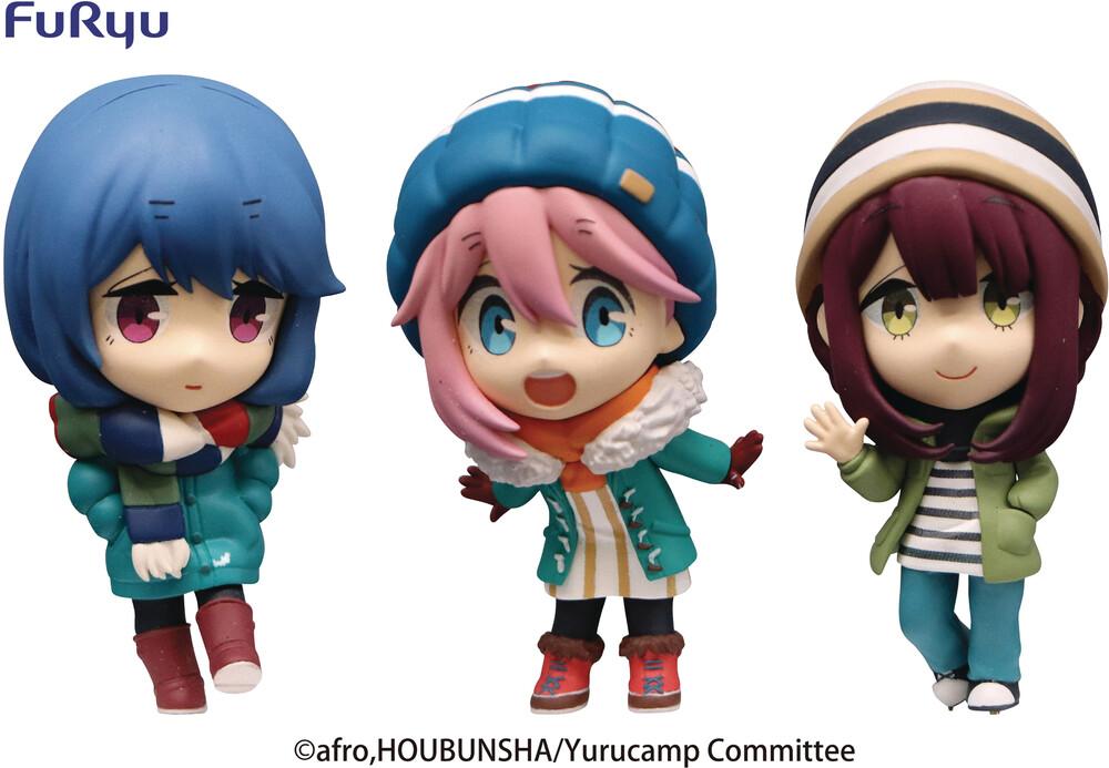 - Laid-Back Camp Season 2 Chobirume 3pc Pvc Fig Set