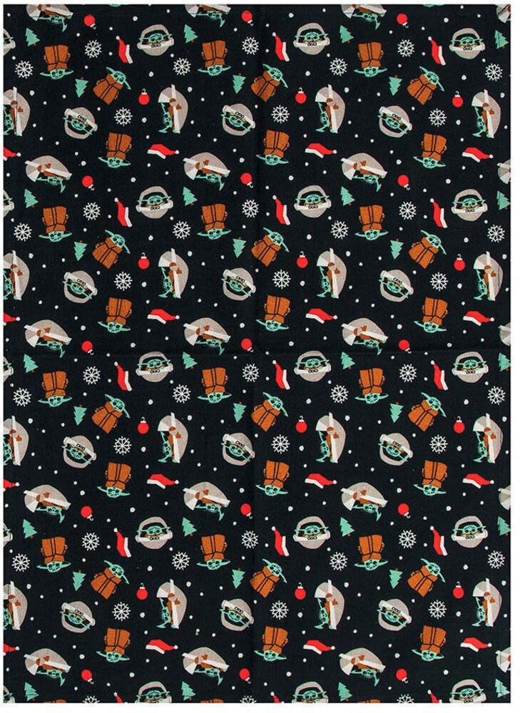 Star Wars Mandalorian Grogu Holiday Tea Towel - Star Wars Mandalorian Grogu Holiday Tea Towel