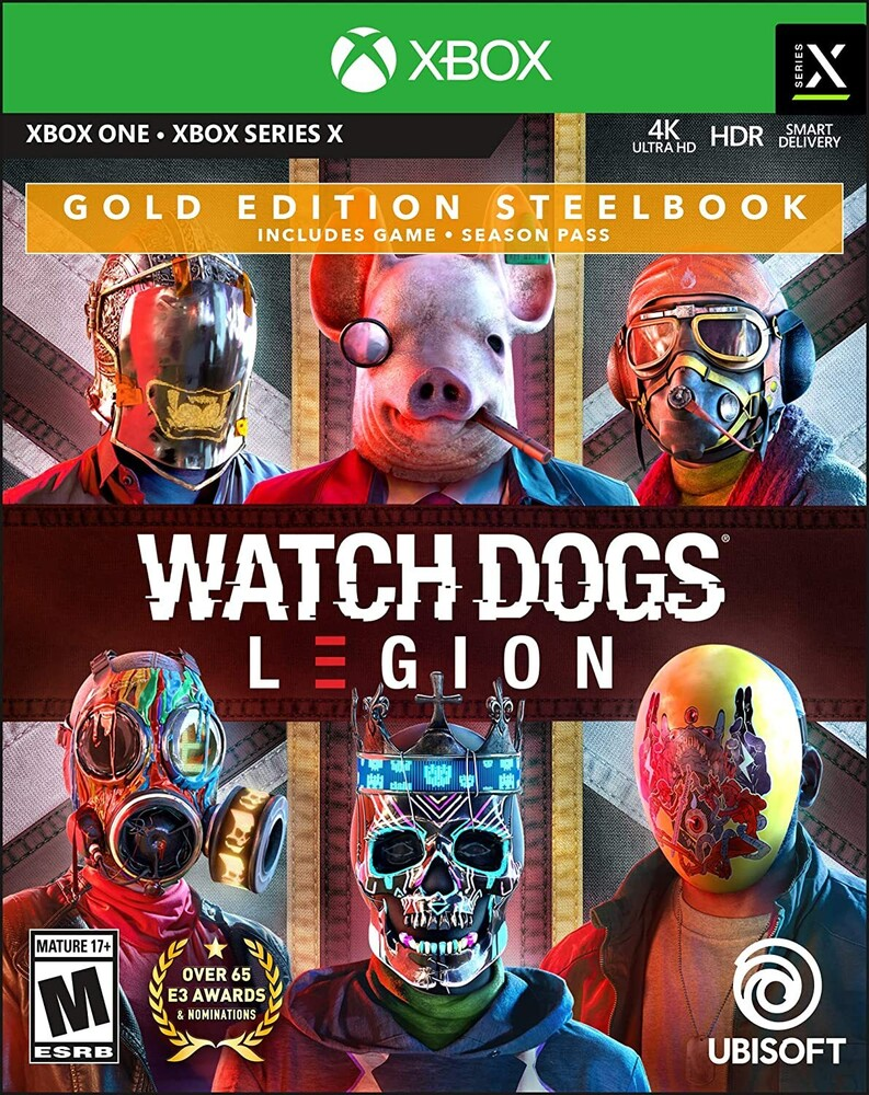 Xb1 Watch Dogs: Legion Steelbook Gold Ed - Watch Dogs Legion for Xbox One Gold Steelbook Edition