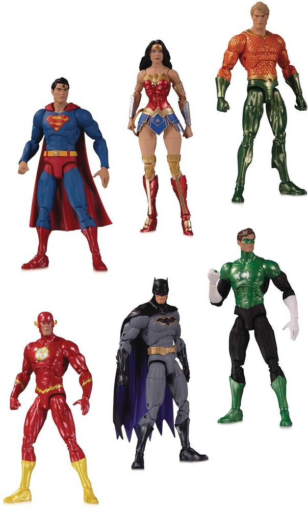 Dc Collectibles - DC Collectibles - DC Essentials Justice League Action Figure 6 Pack