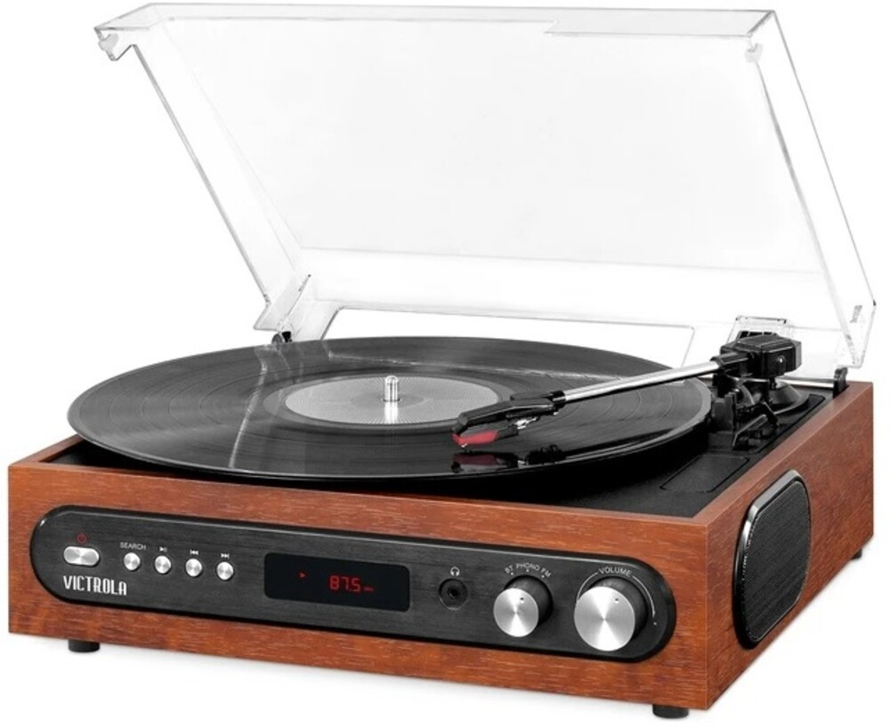 Victrola Vta-67-Esp Retro Bt 3/1 Turntable Fm Espr - Victrola VTA-67-ESP Retro 3-in-1 Bluetooth Wireless Turntable 3 SpeedsBuilt in Speakers FM Radio (Espresso)