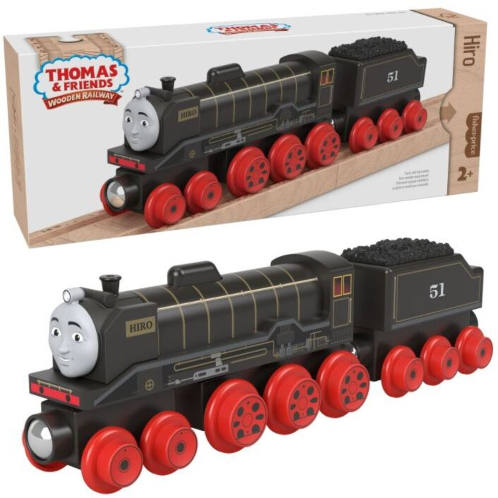 Thomas and Friends Wooden Railway - Thomas And Friends Wood Hiro Engine & Car (Wood)